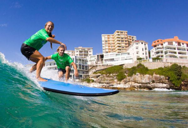 Bondi Beach Surfing